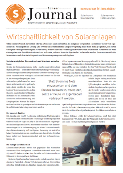Schaer Energie Journal August 2018